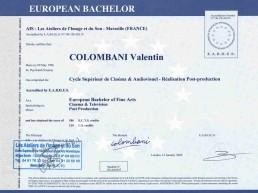 Diplôme Bachelor AIS (Cinéma et audiovisuel)