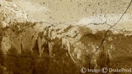photographie art montagne sepia vieux