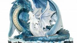 photographie objet- Dragons bleu-blanc