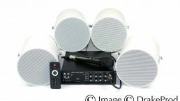 photographie produit 4 haut-parleurs