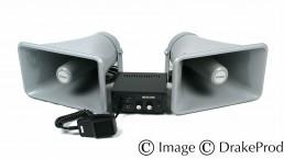photographie produit haut-parleurs double